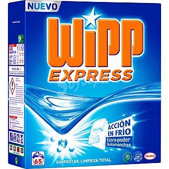 Wipp Express Detergente máquina polvo acción quitamanchas en frio maleta 65 cacitos 65 cacitos