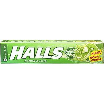 HALLS Vita-C Caramelos duros sabor lima Paquete 33,5 g
