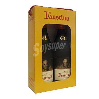Faustino V Estuche de vino D.O. Rioja tinto reserva Pack 2x75 cl