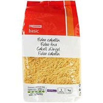 Eroski Basic Fideo cabellin Paquete 1 kg