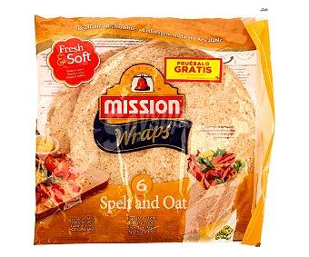 Mission Wraps con espelta y avena 6 unidades (370 g)