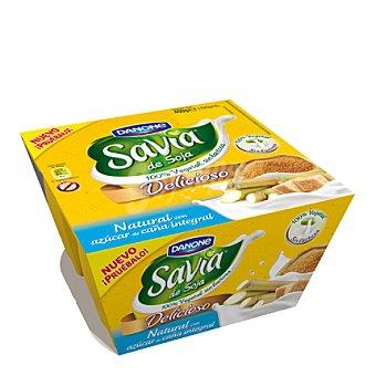 Danone - Savia Yogur natural con azúcar de caña integral de soja y sin lactosa Danone pack 4x100 g