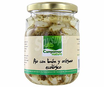 Campomar Nature Ajos con limón y orégano ecológico 140 gramos