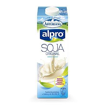 Alpro Asturiana Bebida de soja natural sin colesterol enriquecida con calcio  envase 1 l