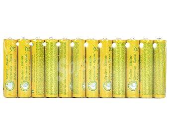 Productos Económicos Alcampo Pilas Alcalinas AAA LR03 1,5V Pack de 12 Unidades