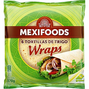 Mexifoods Tortillas de trigo de 25 cm 8 unidades 8 unidades (500 g)