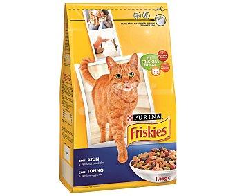 Purina Friskies Pienso para gatos adultos Friskies atún y verduras 1,5 Kg