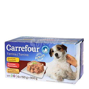 Carrefour Comida para perro Pack 6x150 gr