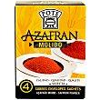 Azafrán selecto molido 100% natural Pack de 4x0,1g Pote