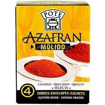 Pote Azafrán selecto molido 100% natural Pack de 4x0,1g