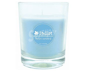 SENSSAE Vela con vaso olor frescor marino 1 Unidad