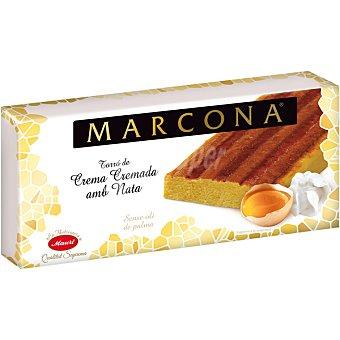 Marcona Turrón de mazapán de yema tostada y nata Sin Gluten Calidad Suprema Tableta 250 g