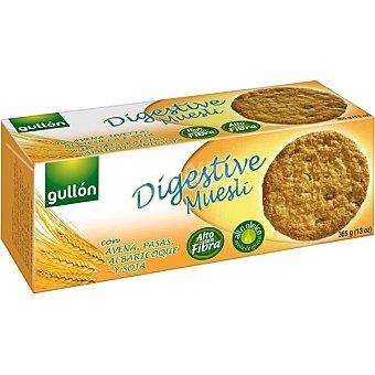 GULLON Digestive Muesli Galletas con salvado de trigo avena pasas albaricoque y soja estuche 365 g Estuche 365 g