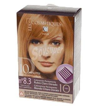 Les Cosmetiques Tinte capilar permanente 10 minutos nº 8.3 1 ud