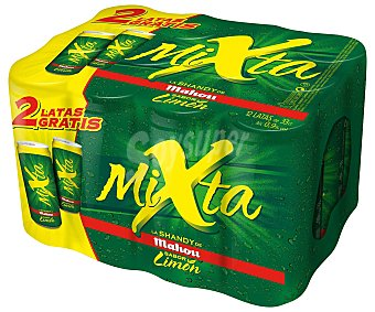 Mixta Mahou Cerveza sin alcohol con gaseosa sabor limón Pack 12 x 33 cl