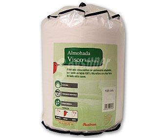 Auchan Almohada visco elástica, espesor de 50 Kg/m², 105x30 centímetros para camas de 105 centímetros 1 Unidad