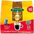 Café molido natural Paquete 16 monodosis Baqué