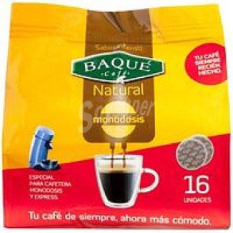 Baqué Café molido natural Paquete 16 monodosis