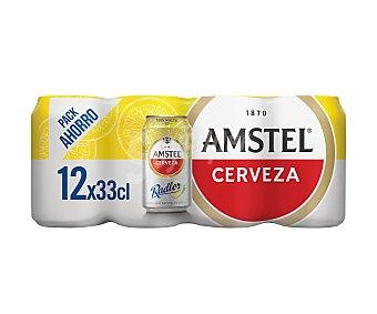 Amstel Cerveza Amstel Radler con limón Pack de 12 latas de 33 cl