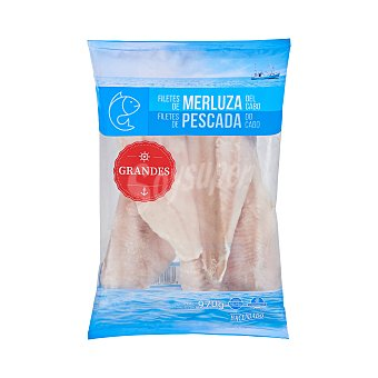 Hacendado Merluza congelada filete grande sin piel del cabo Paquete 970 g