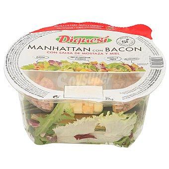Diquesí Ensalada manhattan con bacon y salsa de mostaza con miel tarrina 215 gr Tarrina 215 gr
