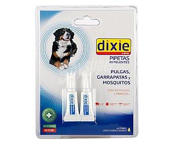 Dixie Pipetas para perros repelentes de pulgas, garrapatas y mosquitos Pack 2 unid
