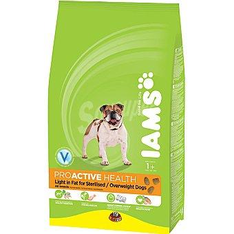 IAMS PROACTIVE NUTRITION Alimento especial bajo en grasa para perros + 1 año esterilizados Bolsa 12 kg