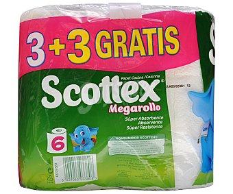 Scottex Cocina megarrollo Paquete 3 un