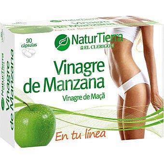 NaturTierra Vinagre de manzana normaliza el metabolismo de las grasas 90 cápsulas envase 180 g 90 c