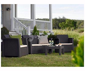 KETER Columbia Conjunto de jardín compuesto de 2 sillas más una mesa de resina sintética, keter