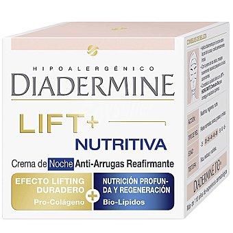Diadermine Lift + crema anti-arrugas nutritiva doble acción noche reafirmante Tarro 50 ml