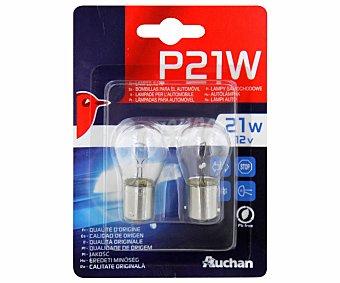 Auchan Bombillas convencionales para automóvil de filamento único, modelo P21W, voltaje: 21W 2 unidades