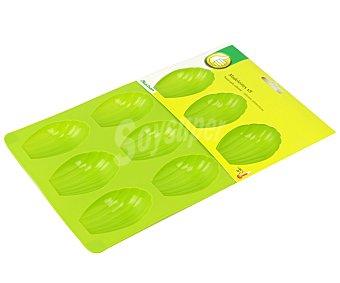 Productos Económicos Alcampo Molde de silicona con capacidad para 9 galletas, 7x4,6 centímetros alcampo