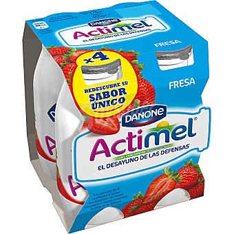 Actimel Danone Yogur líquido sabor fresa Pack 4 100 g