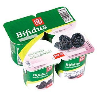 DIA Yogur bífidus con ciruelas Pack 4 unidades 125 g