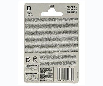 Auchan Paquete de 2 pilas alcalinas del tipo LR20 o D auchan 2u