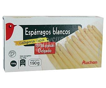 Auchan Espárragos blancos de categoría extra 13/16 piezas Lata de 150 gramos