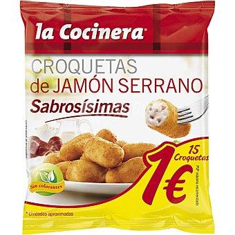 La Cocinera Croquetas de jamón serrano Bolsa 250 g