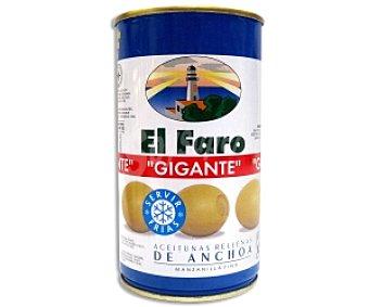 El Faro Aceituna rellena de anchoa, gigante 150 Gramos