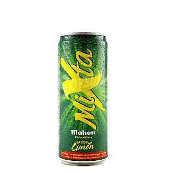 Mixta Mahou Cerveza Mixta sin alcohol con gaseosa sabor limón  Lata 33 cl