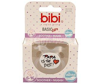 Bibi Chupete anatómico de silicona para bebés de 6 a 16 meses Basic care