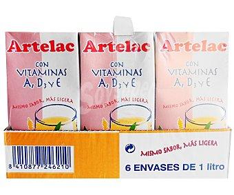 Artelac Preparado lácteo, enriquecido con vitaminas A, D3 y E 6 x 1 l
