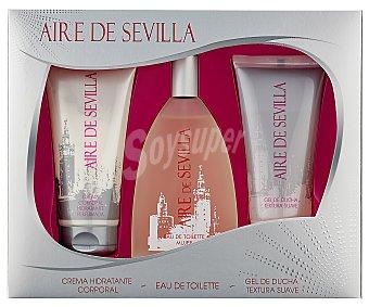 Aire de Sevilla Pack agua fresca de azahar colonia + crema + gel Estuche 1 ud