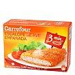 Pollo empanado muy crujiente 330 g Carrefour