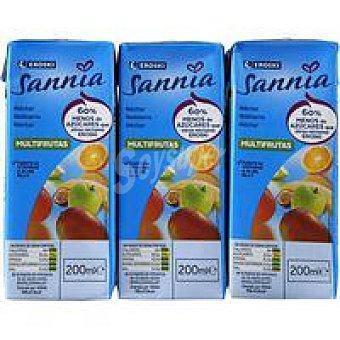 Eroski Sannia Néctar multifrutas sin azúcar Pack 6x20 cl