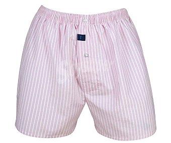 TRAPIO Bóxer de algodón, color rosa, talla L L