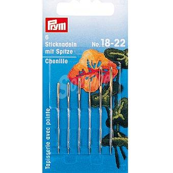 PRYM Estuche de 6 agujas de bordar con punta de los nº 18 al 22