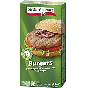 GARDEN GOURMET hamburguesas vegetales de soja estuche 300 g pack 4x75g