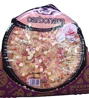 Hacendado Pizza fresca carbonara (crema leche,bacon,champiñon) 430 g