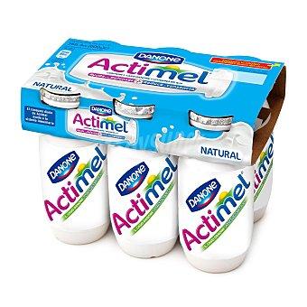 DANONE ACTIMEL Yogur liquido natural pack 6 unidades 100 ml
